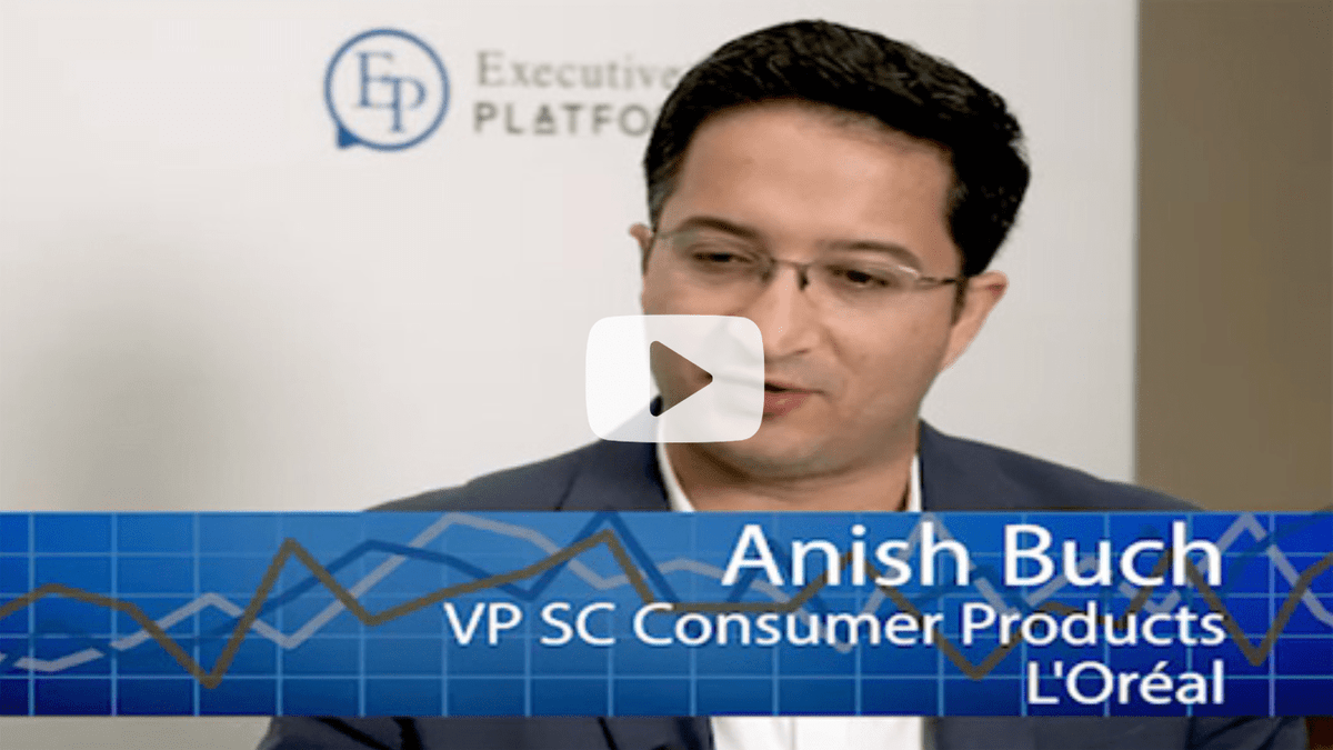 Anish Buch interview on Risk Management and Supply Chain - He is the VP SC Consumer Products @ L'Oréal