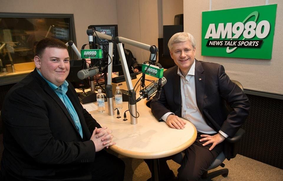 Andrew Lawton interviewing Stephen Harper, the 22nd Prime Minister of Canada