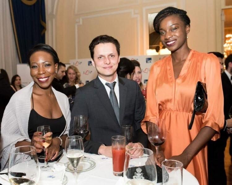 Busola Akin-Olawore with colleagues