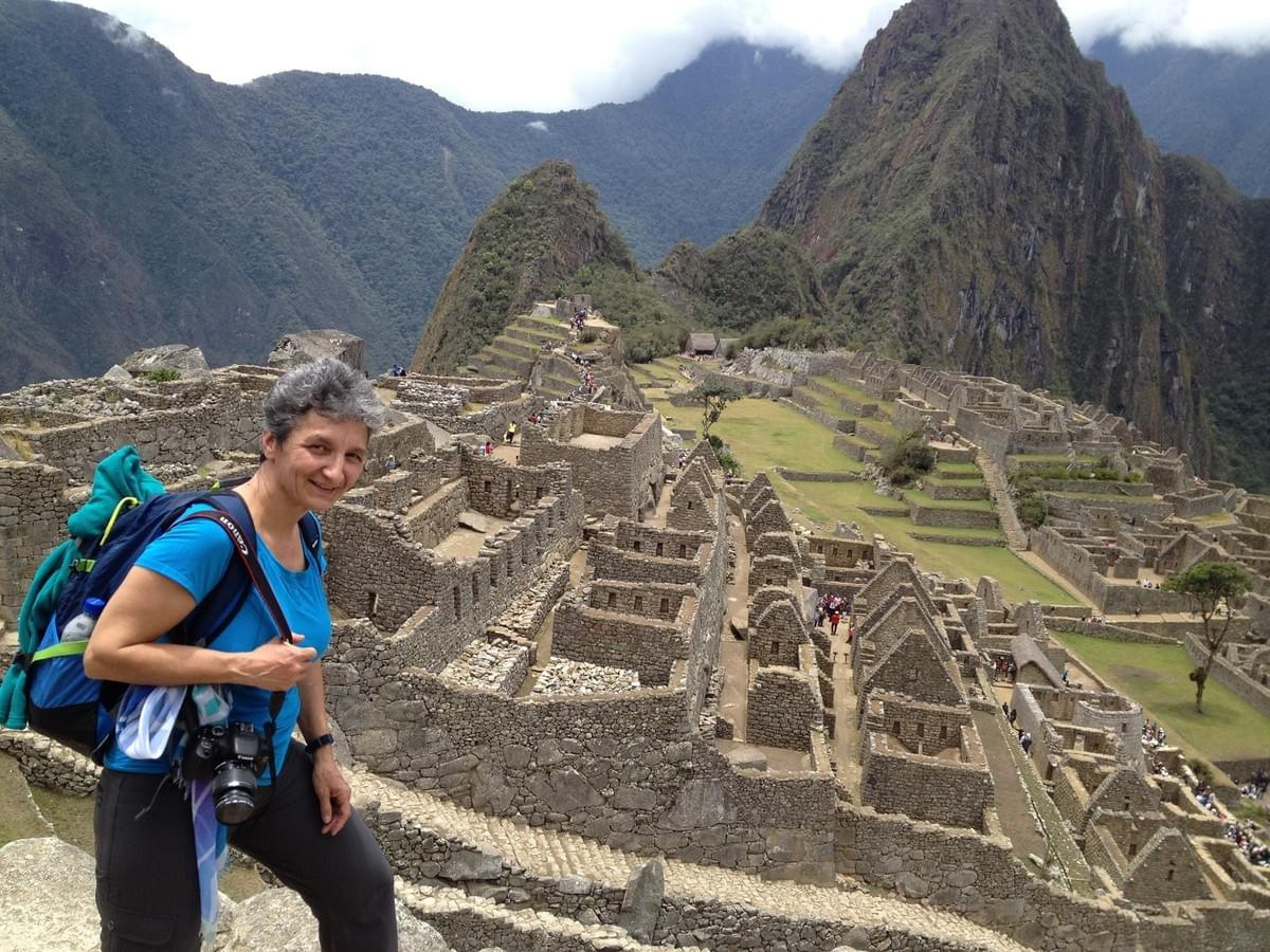 Gabriela Casineanu hiking the Machu Picchu