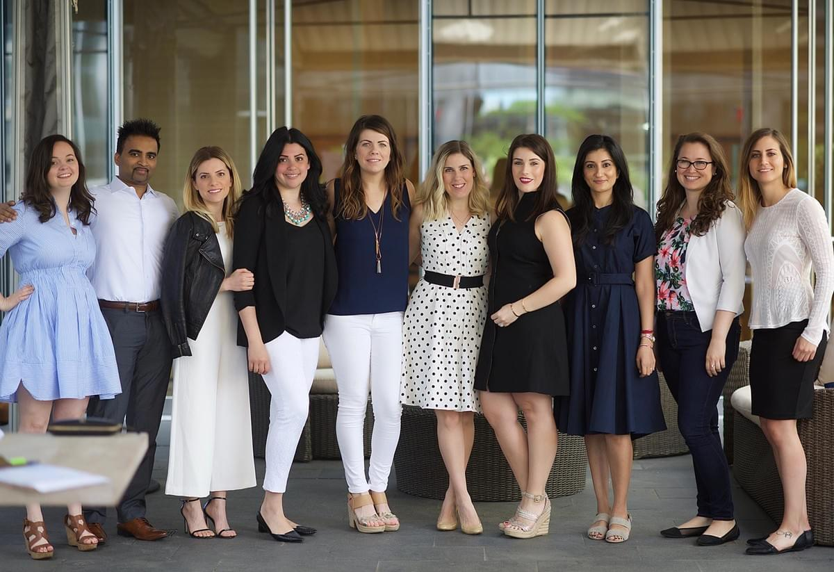 Rebecca Laramée (3rd from the left), chair, with other members of Future Sinai at Mount Sinai Hospital