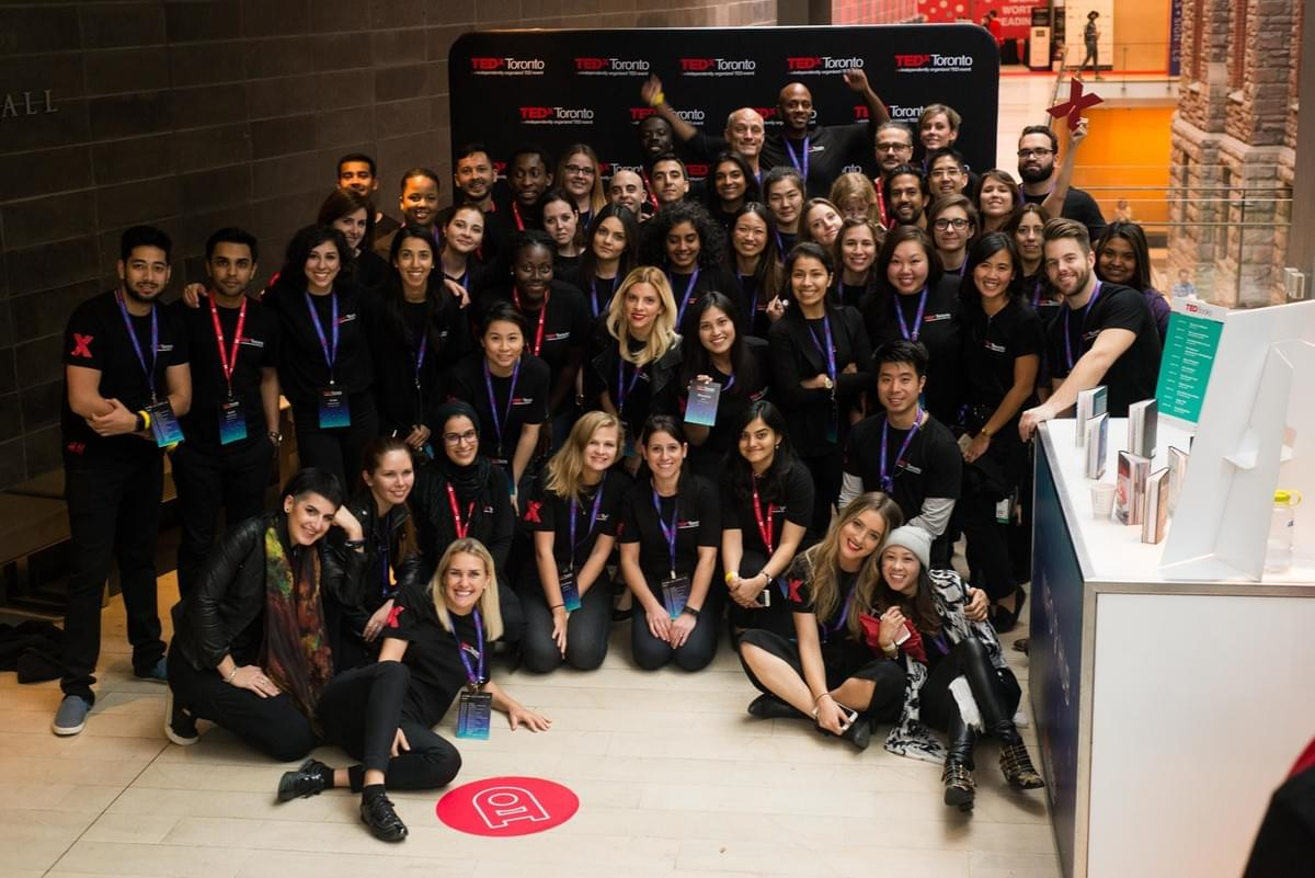 Rebecca Laramée with the rest of the TEDxToronto 2016 organizing team
