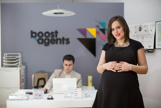 Trina Boos, at the Boost Agents office