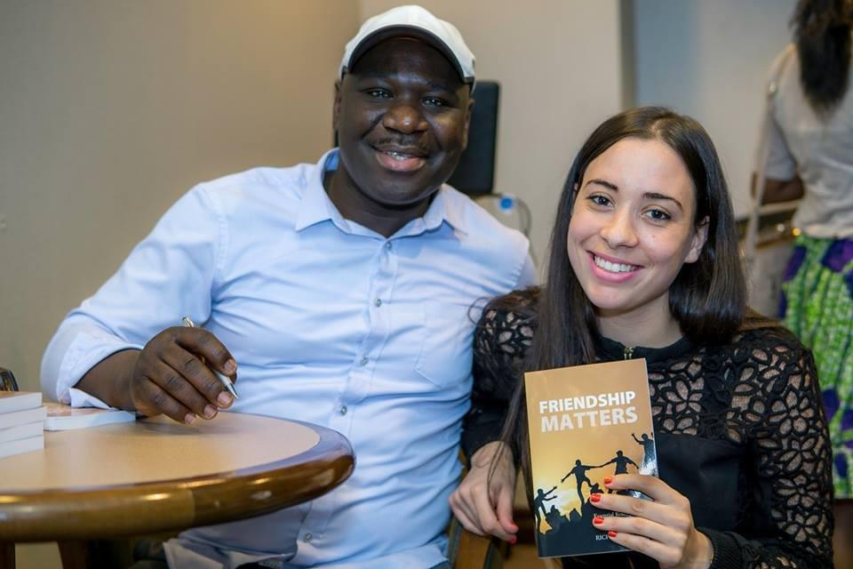 Richard Obede at Friendship Matters book signing event