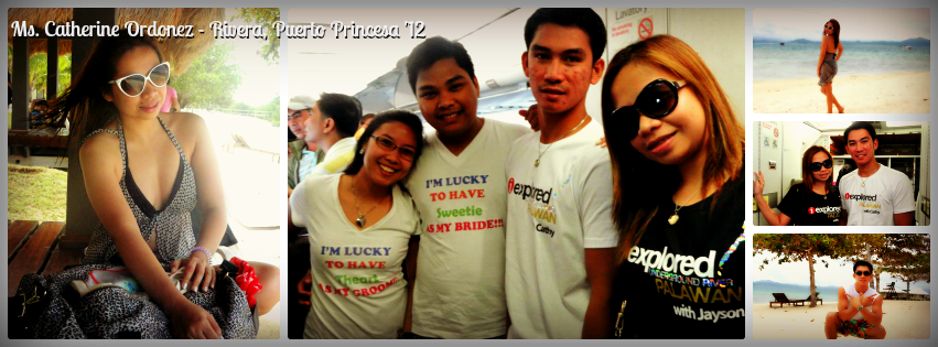 Ms. Catherine Ordonez - Puerto Princesa, Palawan Tour for Two '12