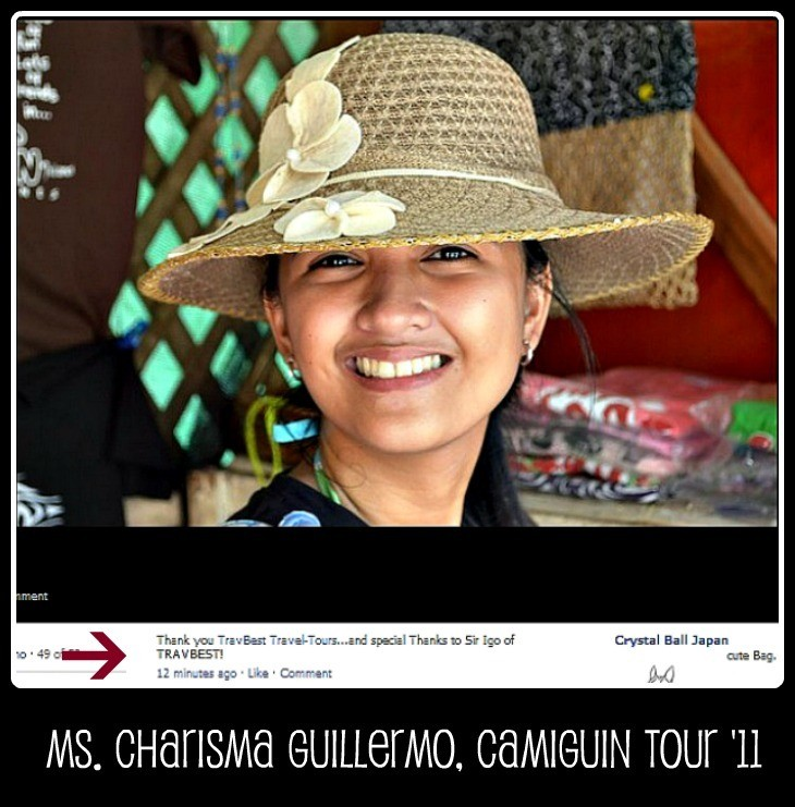 Ms. Charisma Guillermo - Camiguin Tour Package '11
