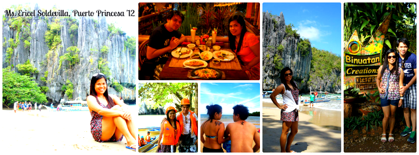Ms. Ericel Soldevilla - Puerto Princesa, Palawan Tour for Two '12