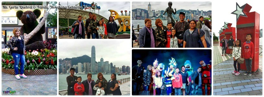 Ms. Gertie Quebral & Family - Hongkong Family Vacation '15