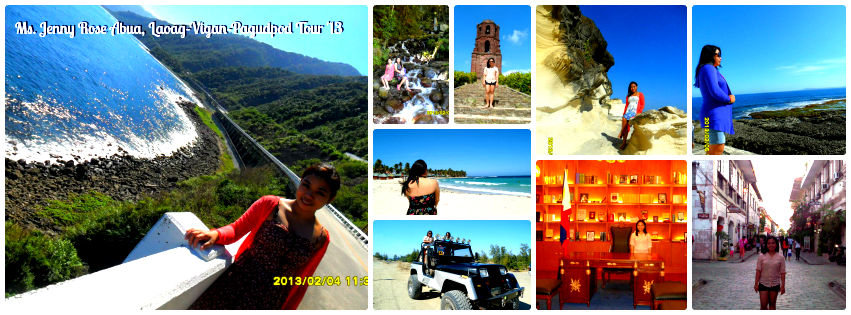 Ms. Jenny Rose Abua - Ilocandia Tour Package '13