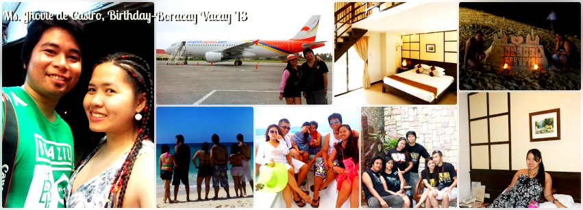 Ms. Jhovie De Castro - Boracay Birthday Vacation '13