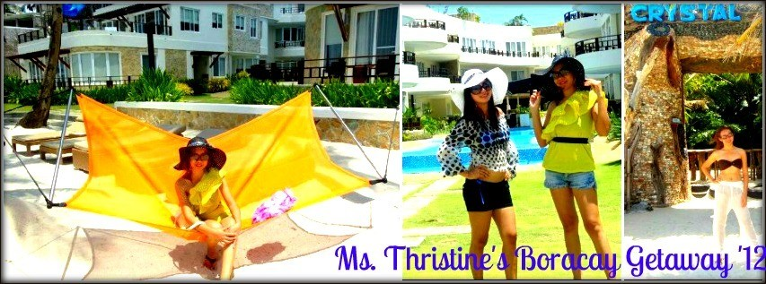 Ms. Thristine Sangco - Boracay Vacation Package '12