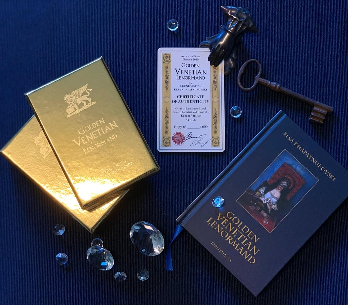 Golden Venetian Lenorman Oracle Divination Cards