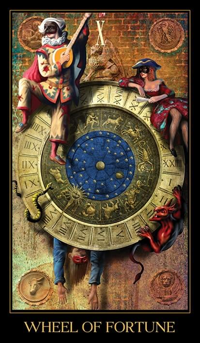 Venetian Tarot Wheel of Fortune