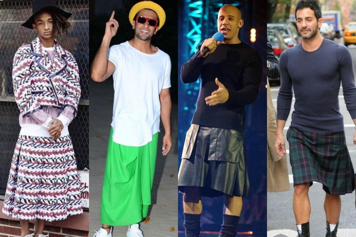 real man wear skirts Jaden Smith Vin Diesel Marc Jacob