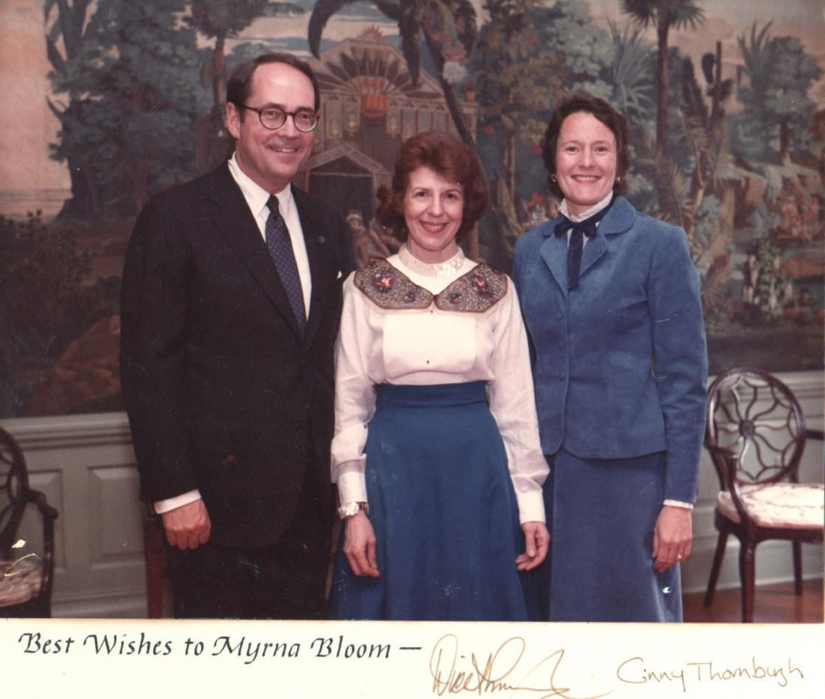 Myrna with Mrs. and Governor THornburgh