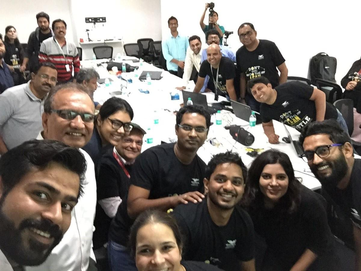The amazing CEO of YourStory Shraddha Sharma with COHORT, CEO Ajay Kela, Director Gayathri , VP - Sasi Chimala and others