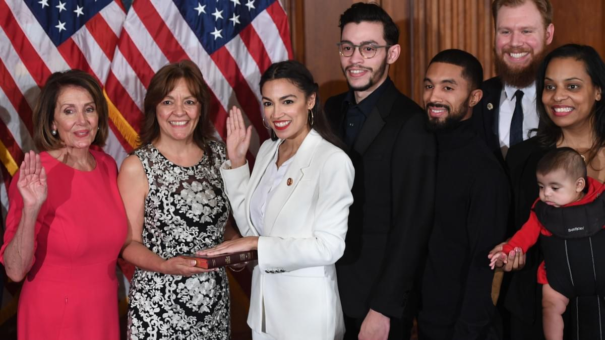 Alexandria Ocasio-Cortez swearing in ceremony, congress 2019