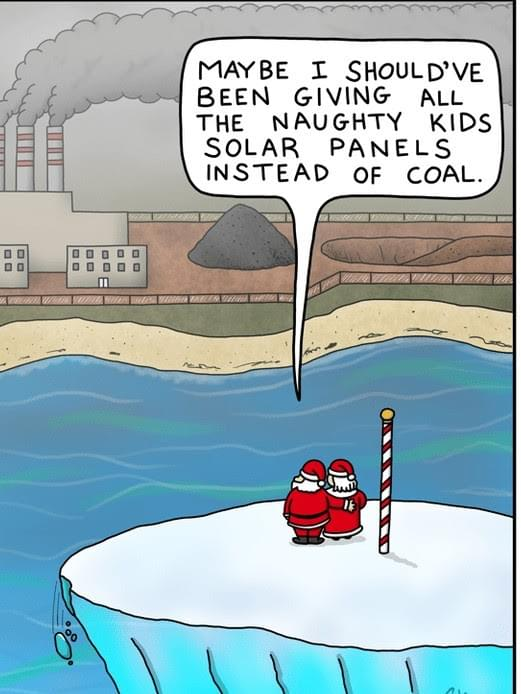 christmas gifts to naughty children, solar panels, coal