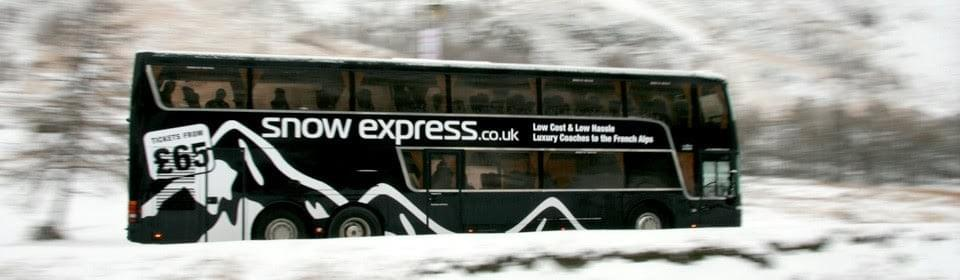 Snow Express Bus from UK to Alps