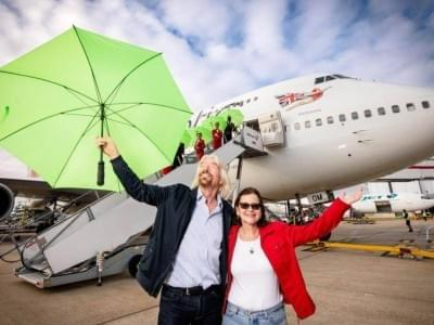 Richard Branson Virgin bio-fuel Atlantic crossing