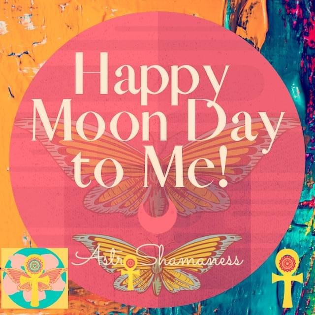 Happy Moon Day to me! Today the transiting Sun conjunct a my natal Moon and South Node. Yay!  It's a good idea to know what exact days of the year correspond with your Natal (Birth) placements as these (along with trines, sextiles, oppositions and squares) are your POWER days. Days that especially ACTIVATE your Birth configuration. Knowing the energy of these days gives us the best opportunity into to make the best use of them for self awareness and personal transformation. The EXACT SOLAR CONJUNCTIONS are YOUR PERSONAL HOLIDAYS (Holydays)! Celebrate and honor Your-whole-self! Awareness is key!