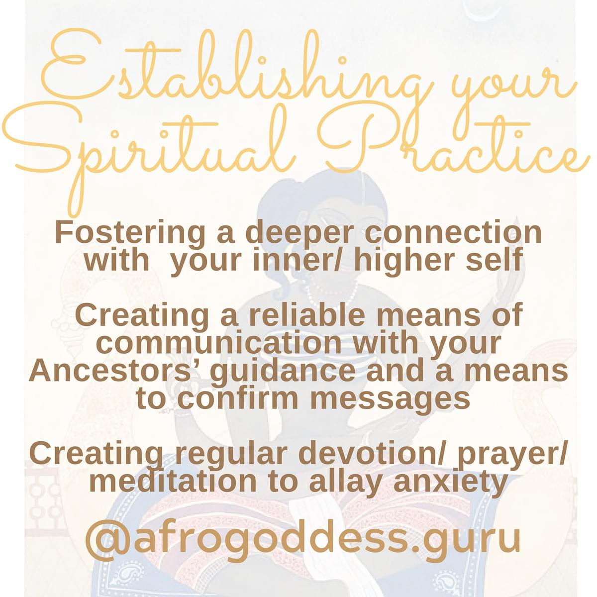 Contact me for guidance in establishing your personal spiritual practice