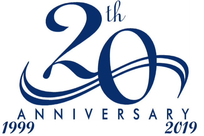 Celebrating 20 Years in Business 1999 - 2019