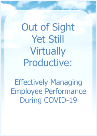 Webinar Effectively Managing Employee Performance During COVID-19