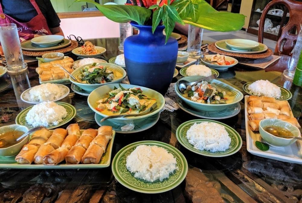 Food spread in Singapore