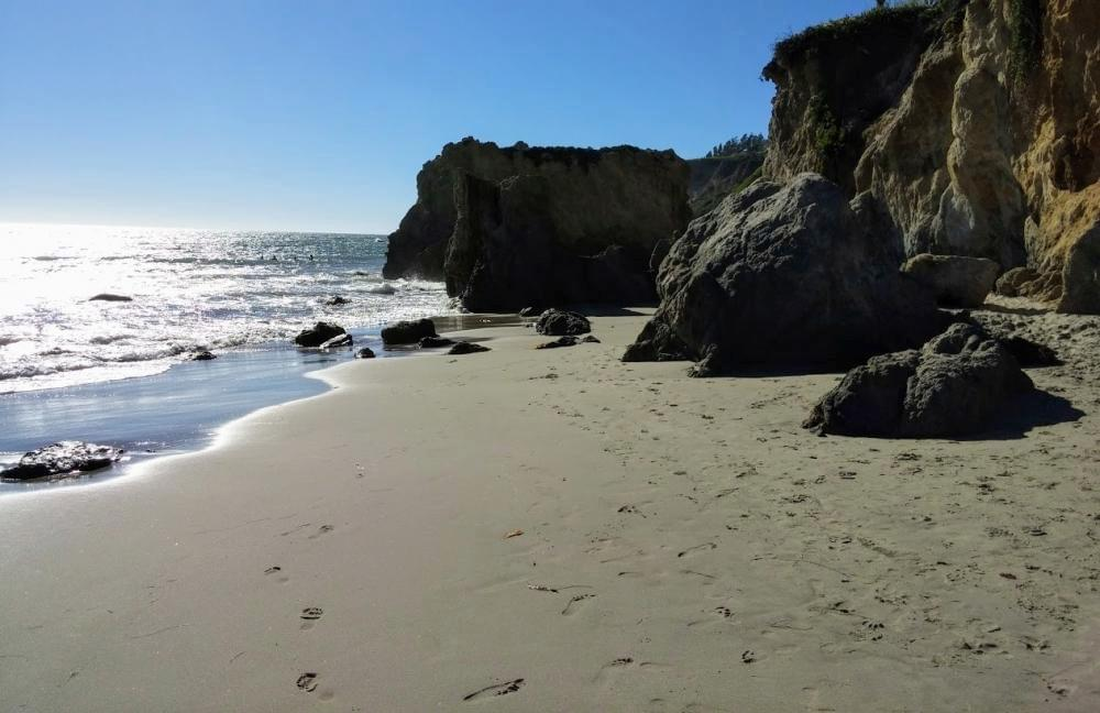 Travel to El Matador State beach in Malibu, California