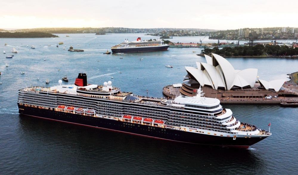 Queen Victoria cruise ship on it's 2023 world cruise itinerary.