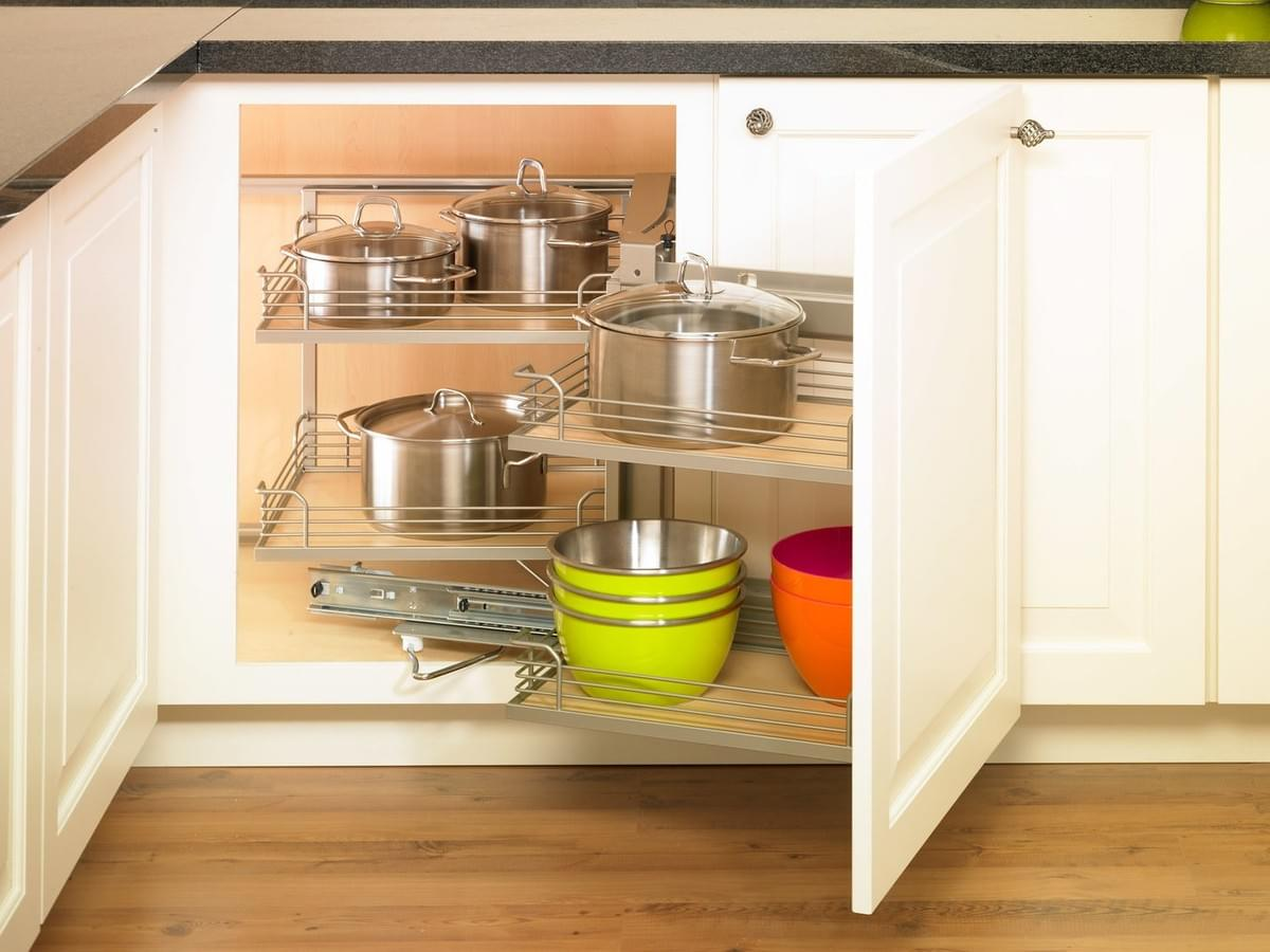 Storage Solutions For Blind Base Cabinets