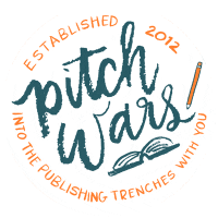 Image of the Pitch Wars logo. Established in 2012. Into the publishing trenches with you.
