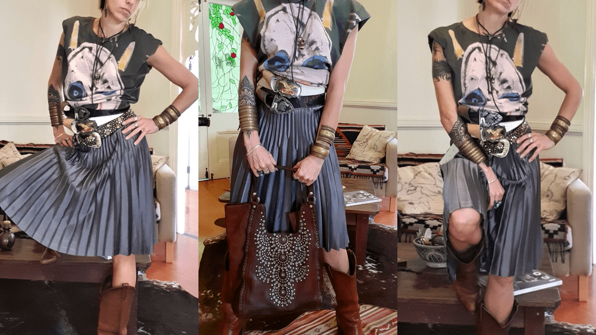 Accessories, JINN E.L X JINN, How to wear an oversized t with a skirt