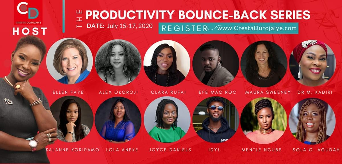 Alex Okoroji is one of the speakers at the Productivity Bounce-Back Series 2020