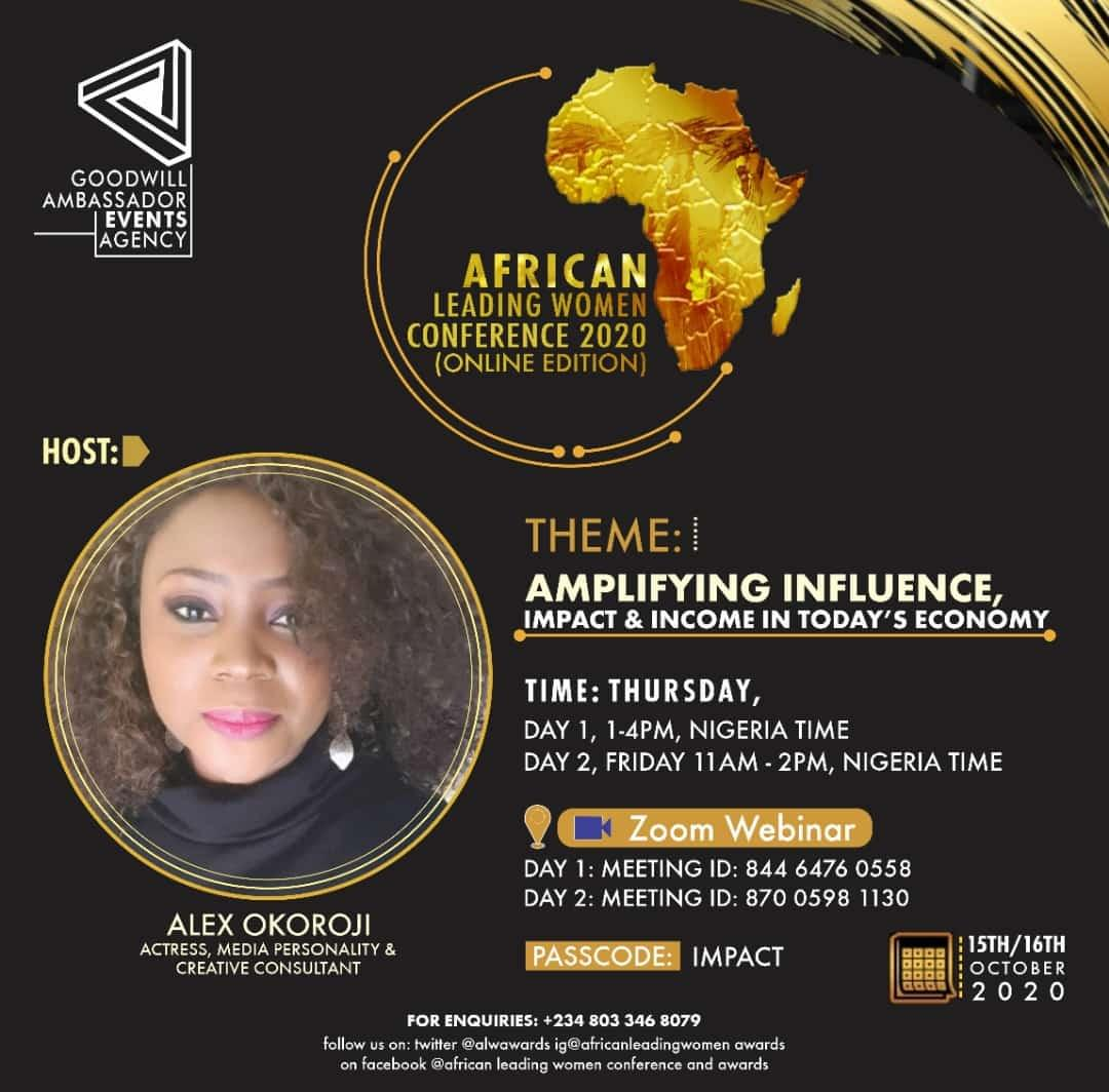 Alex Okoroji is Host of Africa Leading Women Conference 2020