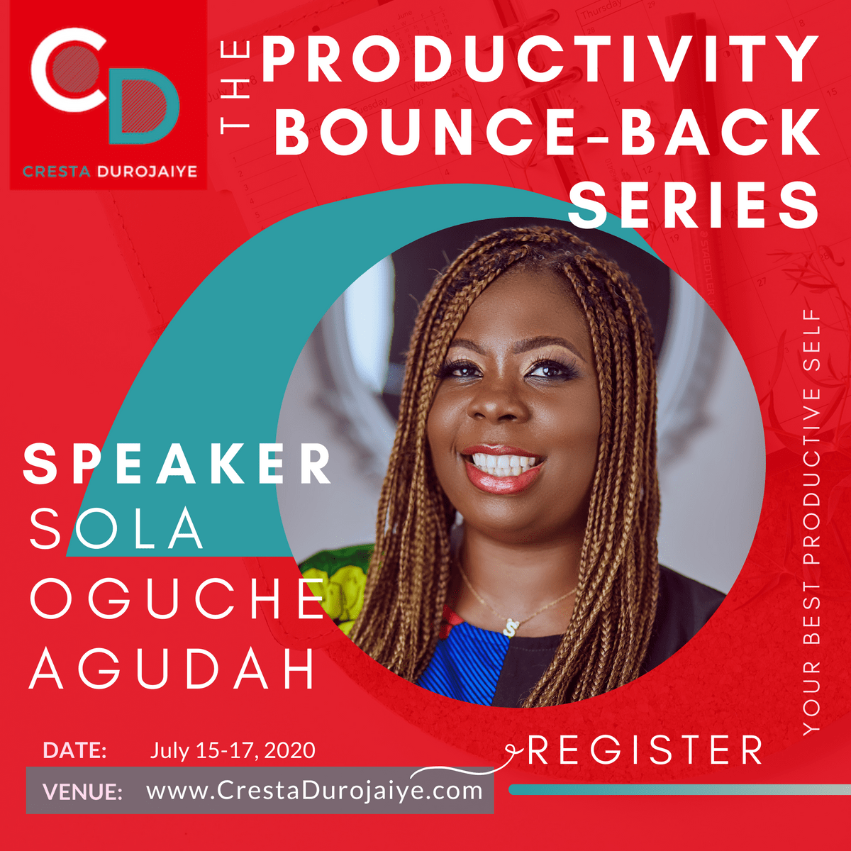 Sola Oguche Agudah is speaking at The Productivity Bounce Back Series