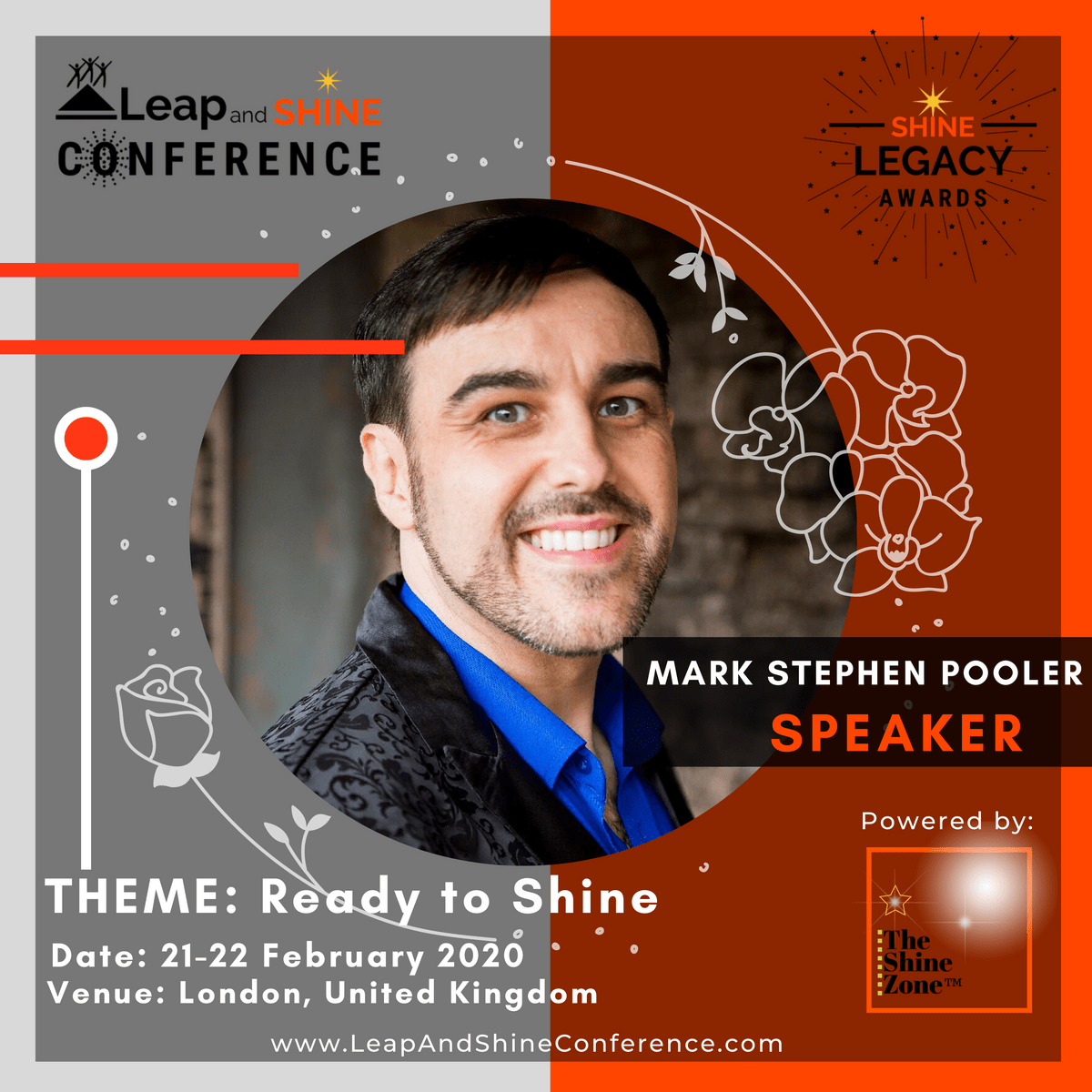 Mark Stephen Pooler is Speaking at Leap And Shine Conference 2020