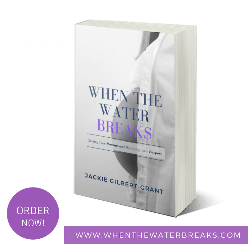 When the water breaks book by Jackie Gilbert-Grant