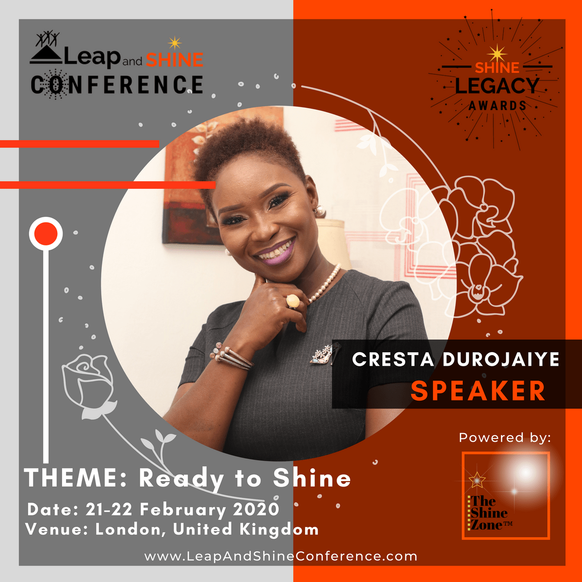 Cresta Durojaiye is speaking at Leap and Shine Conference 2020 in London