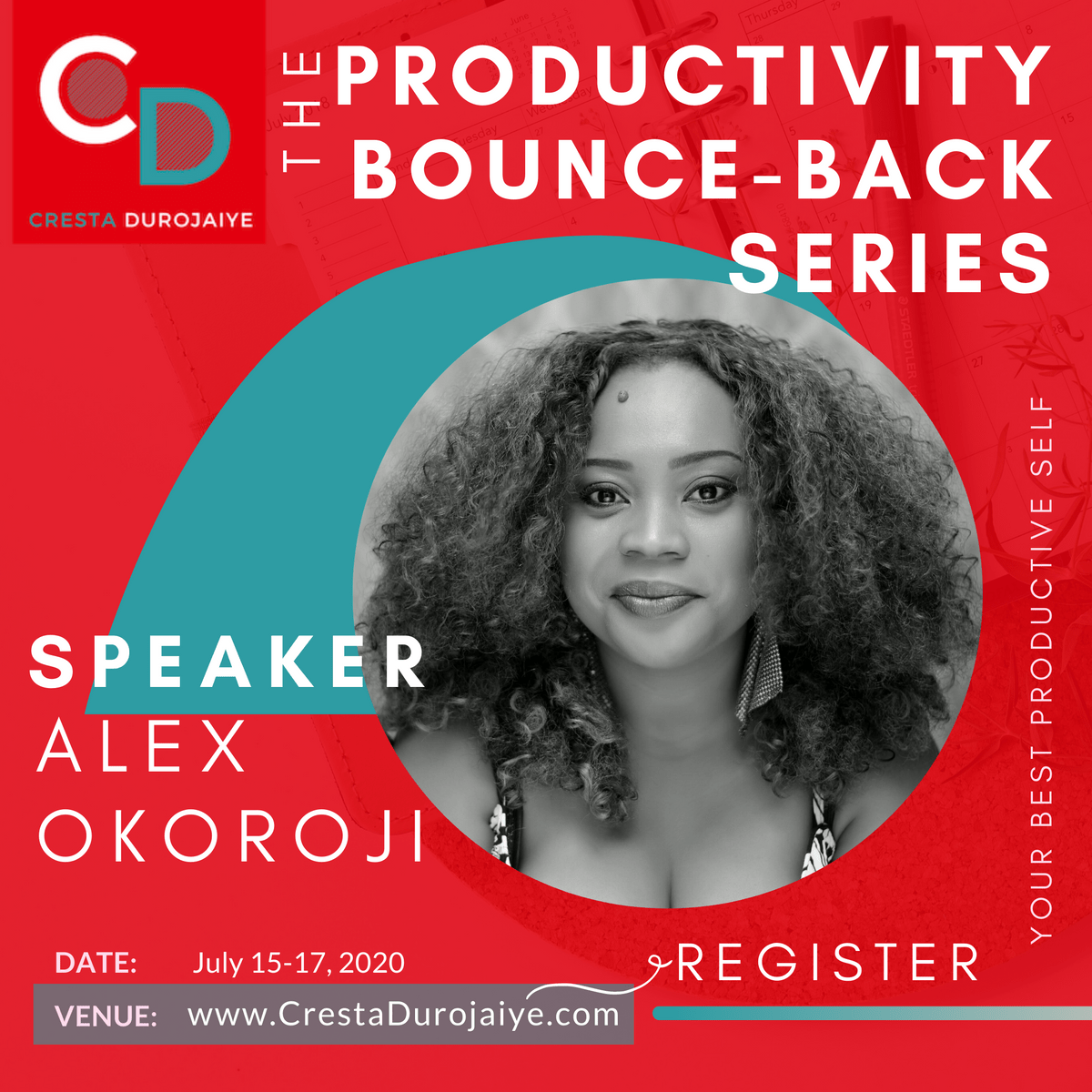 Alex Okoroji is speaking at The Productivity Bounce Back Series
