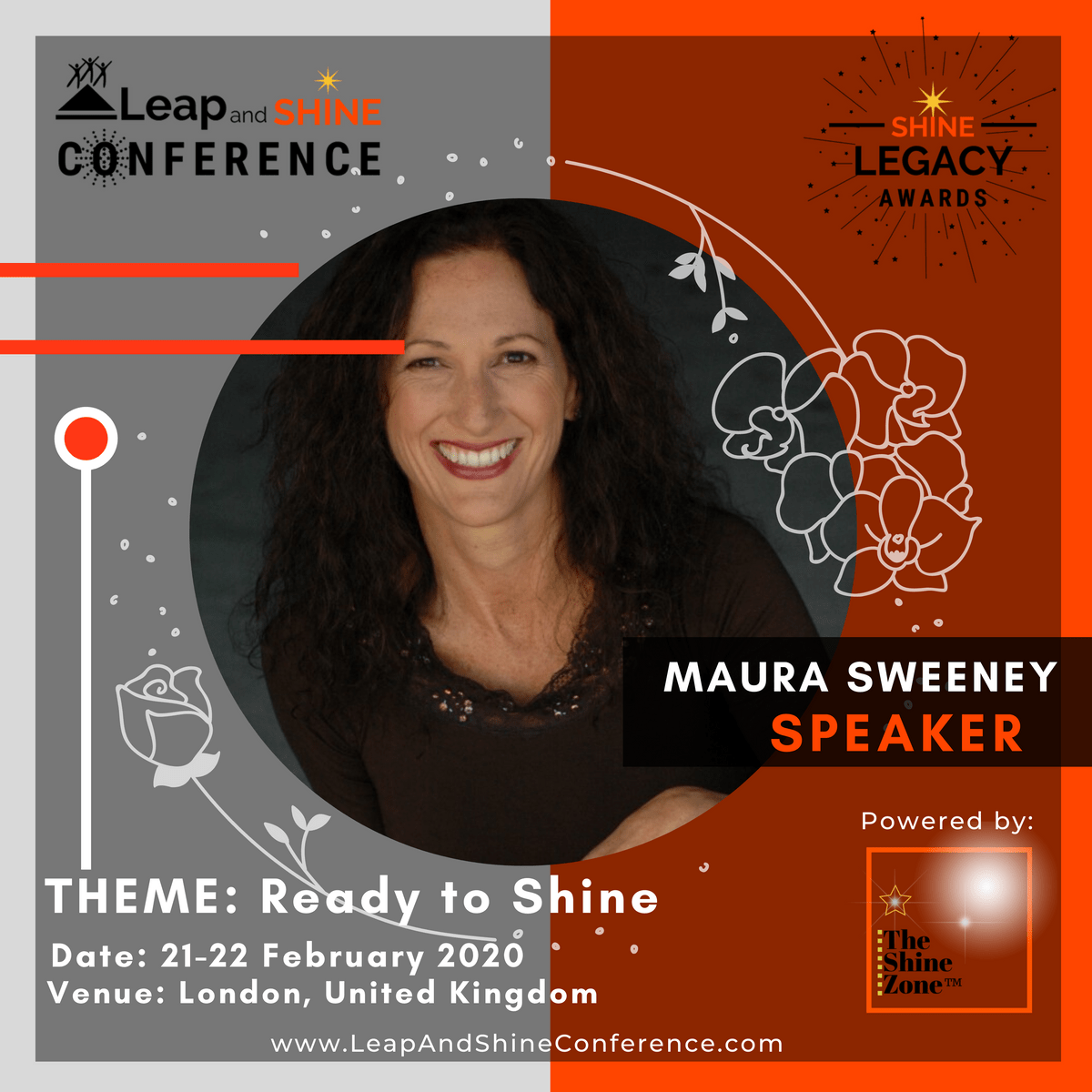 Maura Sweeney is speaking at the Leap and Shine Conference 2020