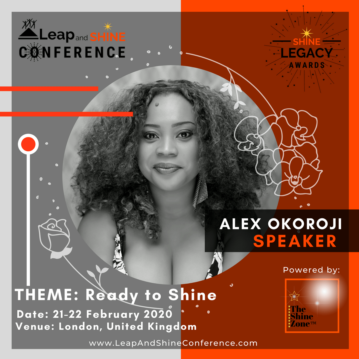 Alex Okoroji is speaking at the Leap and Shine Conference in London