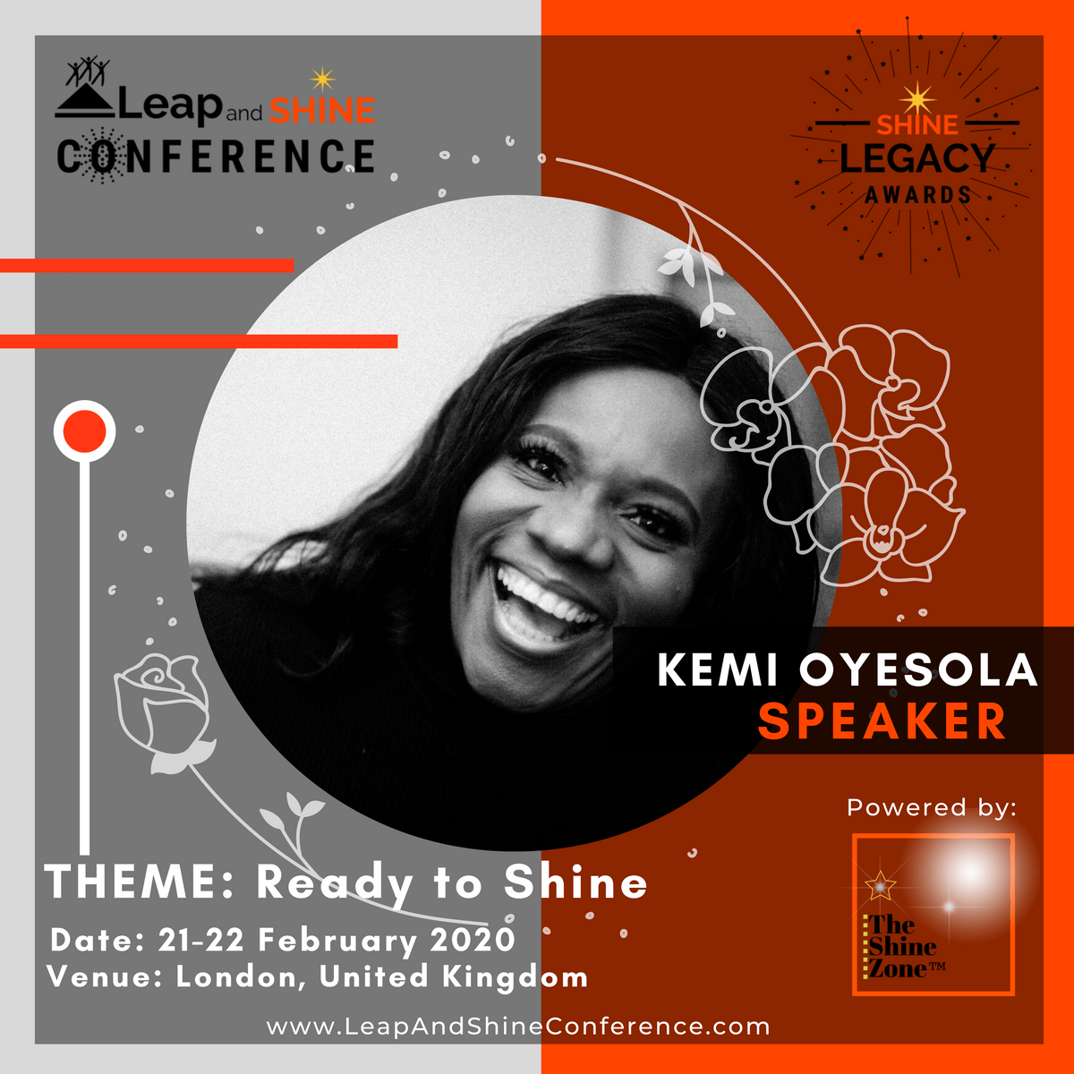Kemi Oyesola is speaking at the Leap and Shine Conference 2020