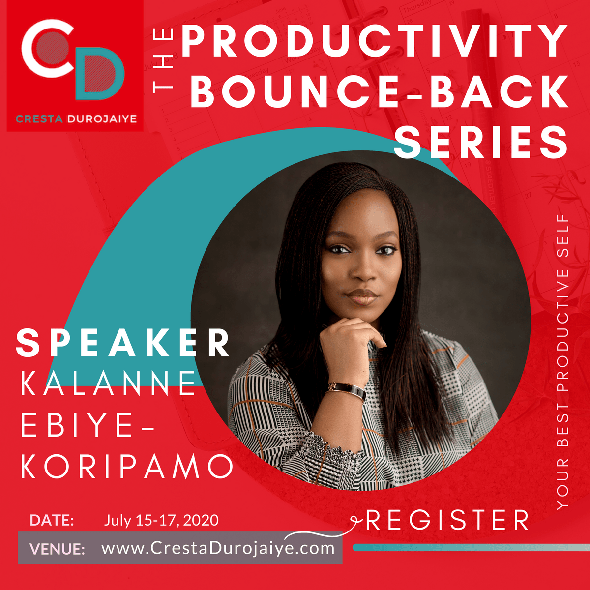 Kalanne Ebiye Koripamo is speaking at The Productivity Bounce Back Series