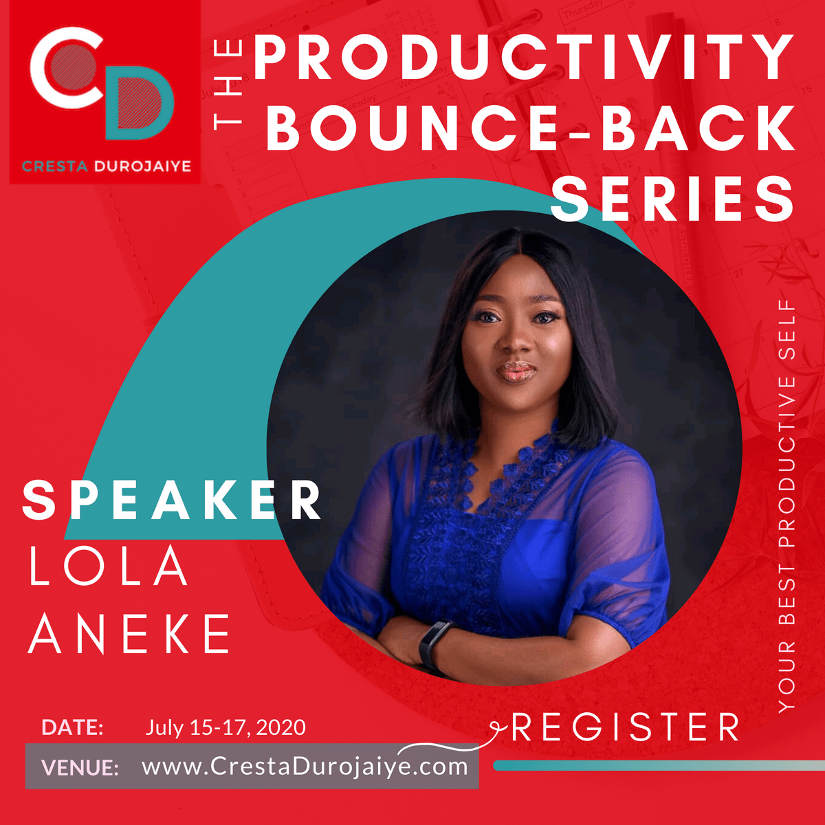 Lola Aneke is speaking at The Productivity Bounce Back Series