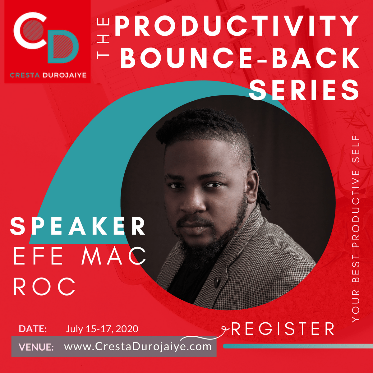 Efe Mac Roc is speaking at The Productivity Bounce Back Series