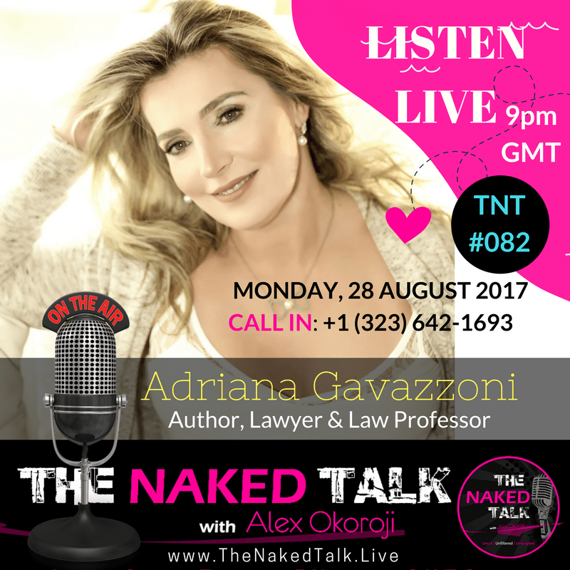 Adriana Gavazonni is Guest on THE NAKED TALK w/ Alex Okoroji