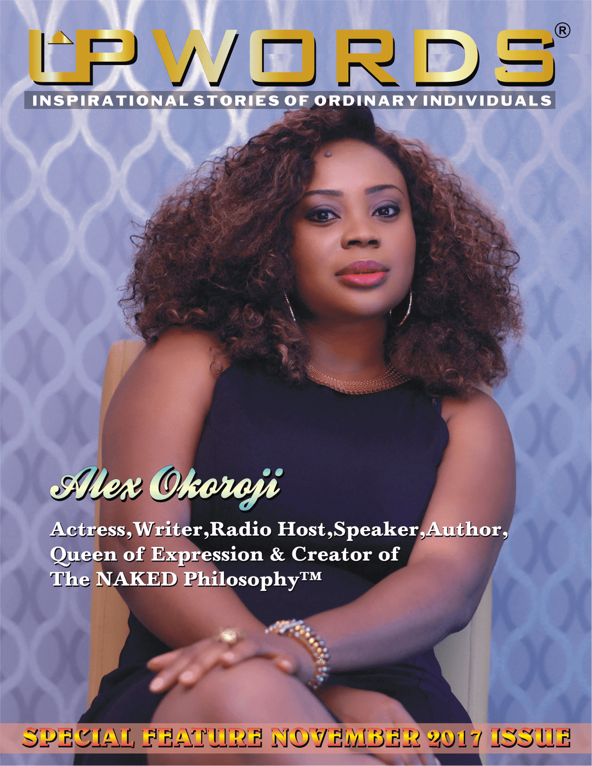 Alex Okoroji November Cover Feature on UPWORDS Magazine, India