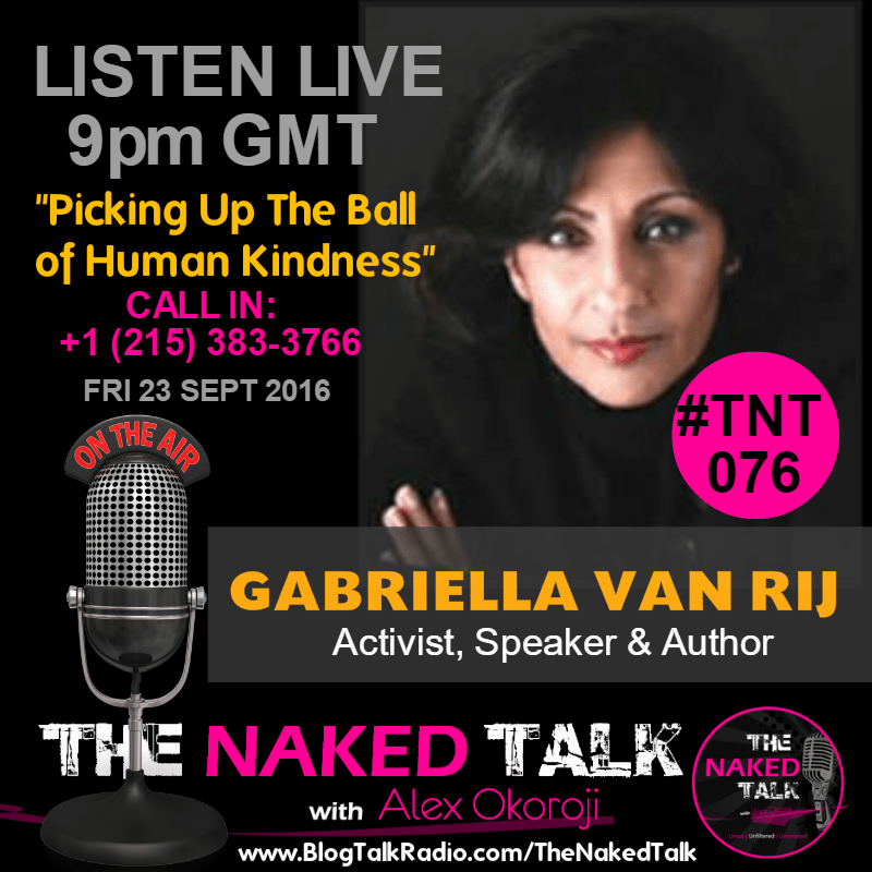 Gabriella Van Rij is Guest on THE NAKED TALK w/ Alex Okoroji